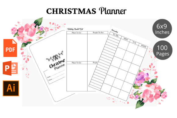 Christmas Planner KDP Interior Graphic