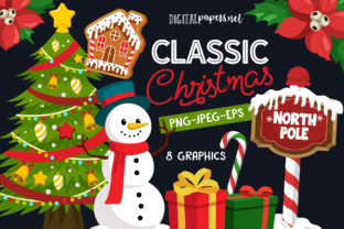 Print on Demand: Classic Christmas Graphic Illustrations By DigitalPapers