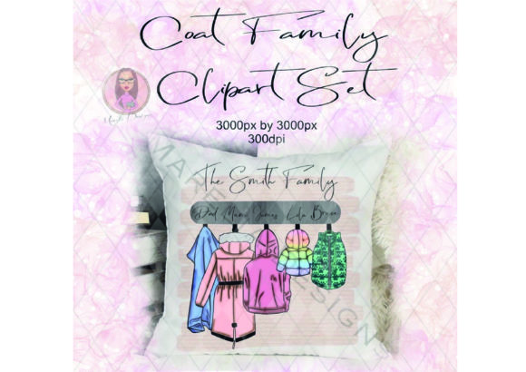 Coat Family Clipart Set Graphic Illustrations By Marelia Designs