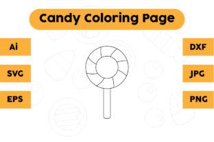 Coloring Page for Kids - Candy Graphic Coloring Pages & Books Kids By isalsemarang
