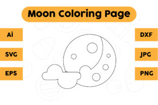 Coloring Page for Kids - Moon Graphic Coloring Pages & Books Kids By isalsemarang
