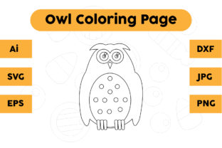 Coloring Page for Kids - Owl Cute Graphic Coloring Pages & Books Kids By isalsemarang