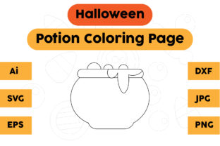 Coloring Page Halloween Kids Potion Graphic Coloring Pages & Books Kids By isalsemarang