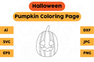 Coloring Page Kids Pumpkin Halloween Graphic Coloring Pages & Books Kids By isalsemarang