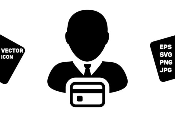 Print on Demand: Credit Card Icon Vector Male User Person Graphic Icons By TukTuk Design