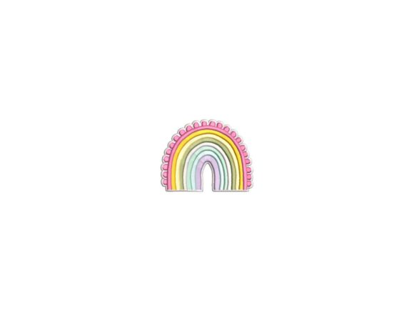 Cute Rainbow Boys & Girls Embroidery Design By carasembor