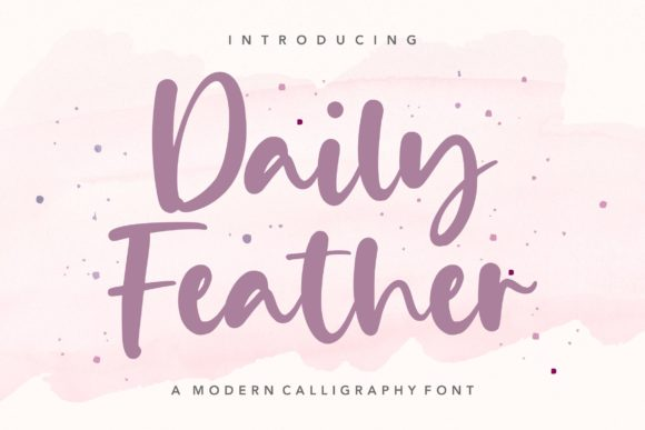 Print on Demand: Daily Feather Script & Handwritten Font By letterativestudio