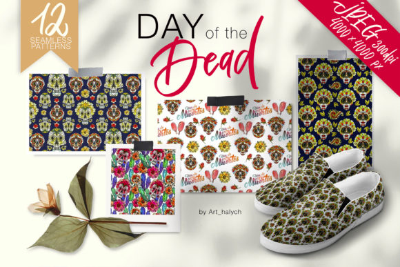 Day of the Dead - Seamless Patterns Graphic Patterns By art.halych