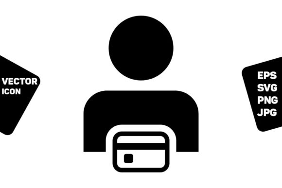Print on Demand: Debit Icon Vector Male User Person Graphic Icons By TukTuk Design