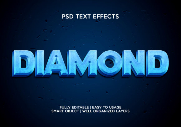 Diamon Text Effect Graphic Layer Styles By gilangkenter