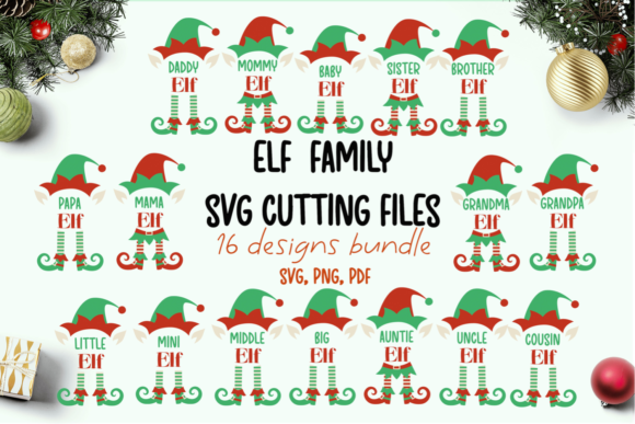 Elf Family Svg Bundle Graphic Crafts By inkoly.art