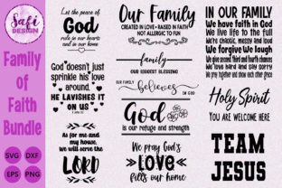 Print on Demand: Family of Faith Cut File Bundle Graphic Crafts By Safi Designs
