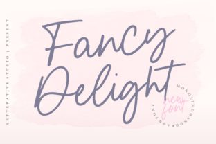 Print on Demand: Fancy Delight Script & Handwritten Font By letterativestudio
