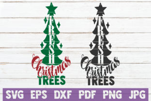 Fresh Christmas Trees Graphic Crafts By MintyMarshmallows