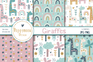 Print on Demand: Giraffes Paper Set Graphic Patterns By poppymoondesign
