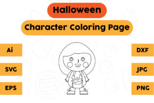 Halloween Character Coloring Page Kids Graphic Coloring Pages & Books Kids By isalsemarang