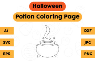 Halloween Coloring Page for Kids Potions Graphic Coloring Pages & Books Kids By isalsemarang
