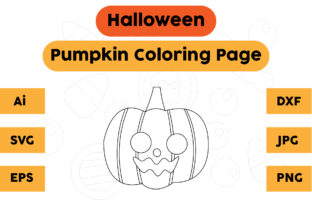 Halloween Coloring Page Kids Pumpkin Graphic Coloring Pages & Books Kids By isalsemarang