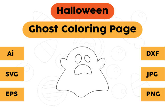 Halloween Ghost Coloring Pages Kids Graphic Coloring Pages & Books Kids By isalsemarang