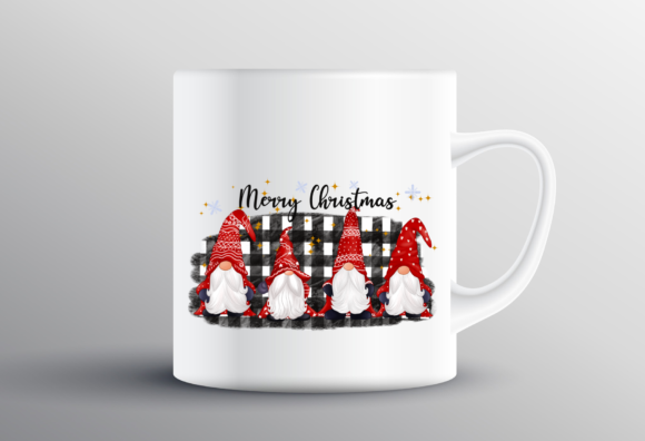 Happy Cute Gnomes Christmas Sublimation Graphic Design
