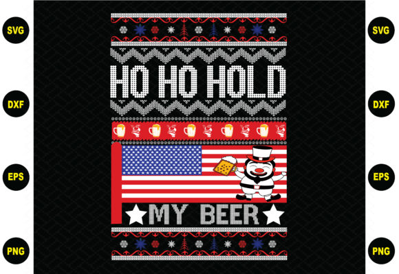 Ho Ho Hold My Beer Christmas Graphic Graphic Templates By BDB_Graphics