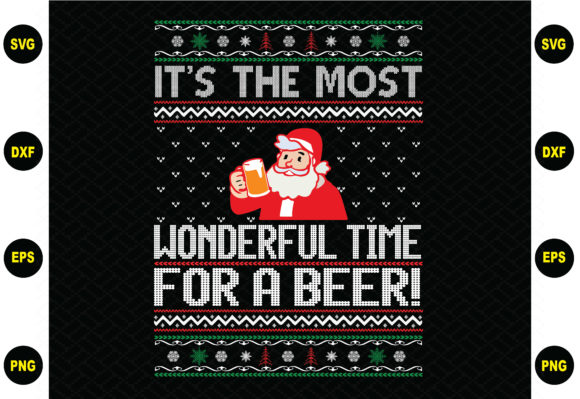 It's the Most Wonderful Time for a Beer Graphic Graphic Templates By BDB_Graphics