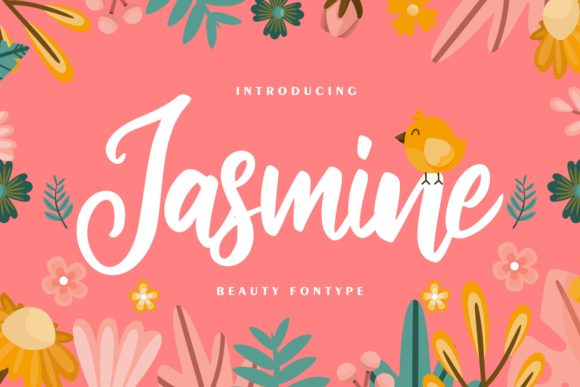 Print on Demand: Jasmine Script & Handwritten Font By Vunira
