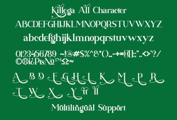 Killega Font Design Item