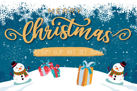 Merry Christmas Illustration Set Graphic Illustrations By byemalkan
