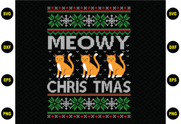 Mewoy Christmas Sweater Graphic Graphic Templates By BDB_Graphics