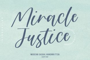 Print on Demand: Miracle Justice Script & Handwritten Font By letterativestudio
