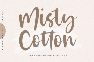 Print on Demand: Misty Cloud Manuscrita Fuente Por letterativestudio
