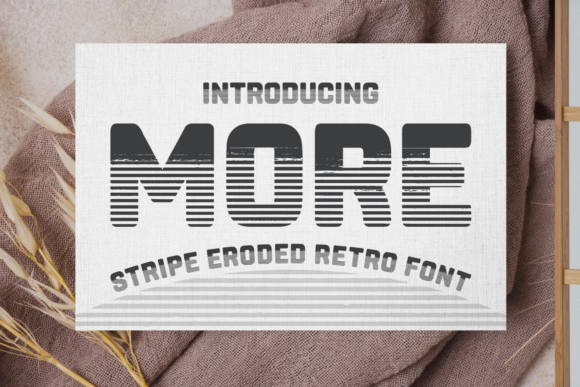 Print on Demand: More Display Font By Situjuh