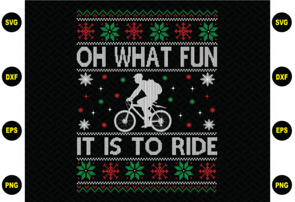 Print on Demand: Oh What Fun Its to Ride Christmas Graphic Graphic Templates By BDB_Graphics