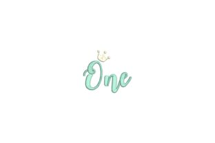 One Year Crown Babies & Kids Quotes Embroidery Design By carasembor