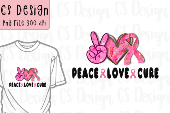 Print on Demand: Peace Love Cure Sublimation Png File Graphic Crafts By CSDesign
