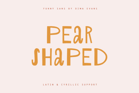 Print on Demand: Pear Shaped Display Font By Dmitrii Chirkov