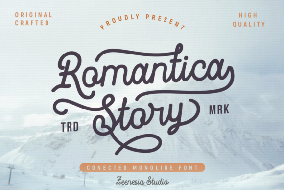 Print on Demand: Romantica Story Script & Handwritten Font By zeenesia