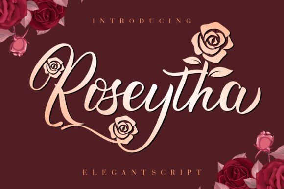 Print on Demand: Roseytha Script & Handwritten Font By HansCo