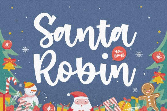 Print on Demand: Santa Robin Script & Handwritten Font By Balpirick