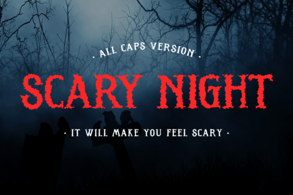 Print on Demand: Scary Night Display Font By Haksen