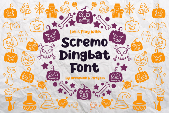 Print on Demand: Scremo Dingbats Font By Dreamink (7ntypes)