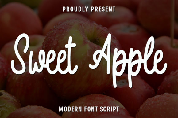 Print on Demand: Sweet Apple Script & Handwritten Font By rangkaiaksara