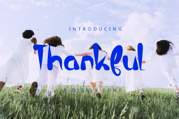 Print on Demand: Thankful Display Font By giatstudios