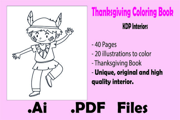 Print on Demand: Thanksgiving Coloring Book -Kdp Interior Graphic Coloring Pages & Books Kids By KDP_Interior_101
