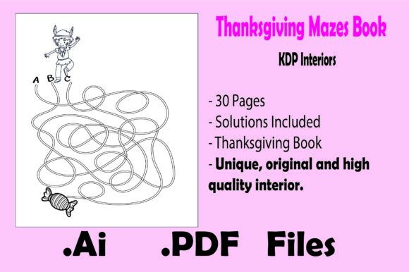 Print on Demand: Thanksgiving Mazes - Kdp Interiors Graphic KDP Interiors By KDP_Interior_101