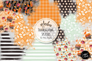 Print on Demand: Thanksgiving Watercolor Splashes 01 Graphic Illustrations By loyaarts