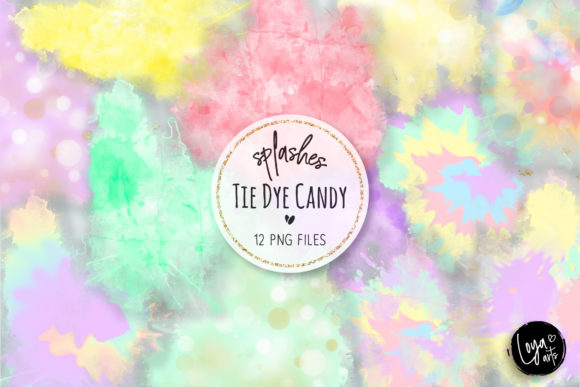 Print on Demand: Tie Dye Candy Colors Splashes Graphic Illustrations By loyaarts