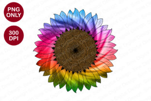 Print on Demand: Tie Dye Sunflower Sublimation Graphic Crafts By SineDigitalDesign