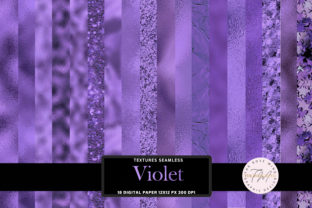 Print on Demand: Violet Seamless Texture Digital Paper Graphic Textures By The Rose Mind